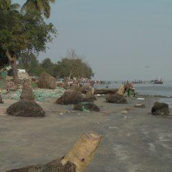 La plage des pêcheurs recule